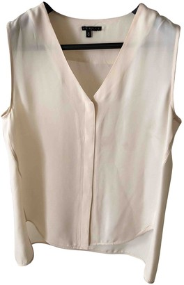 Theory Beige Silk Top for Women