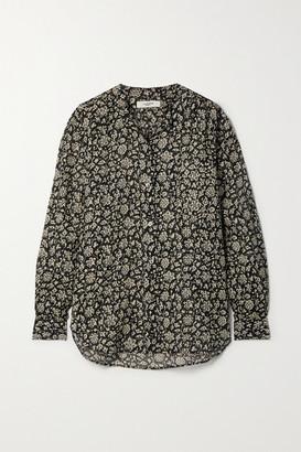Etoile Isabel Marant Mexika Floral-print Cotton-voile Shirt - Black
