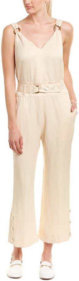Derek Lam 10 Crosby Belted Linen-Blend Jumpsuit