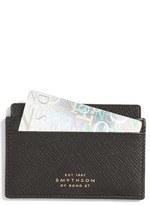 Smythson 'Panama' Leather Card Case - Black
