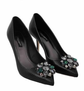 Dolce & Gabbana Taormina Black Leather Heels