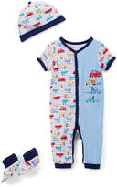 Buster Brown Blue & Red Car Playsuit Set - Infant