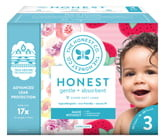 The Honest Company Rose Blossom/Strawberries Size 3 Club Box Diapers