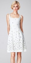Mignon Floral Beaded Fit and Flare Short Knit Dresses