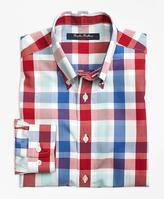 Brooks Brothers Non-Iron Multi Check Plaid Sport Shirt