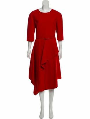 Oscar de la Renta 2017 Wool Dress w/ Tags Red