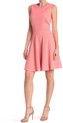 Rebecca Taylor Textured Fit & Flare Dress