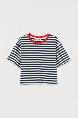 H&M Cotton Jersey Top - Blue