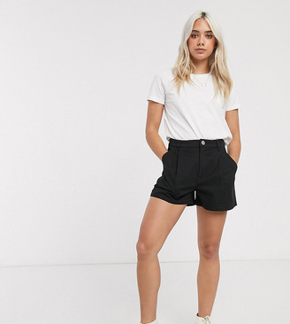 ASOS DESIGN Petite chino short in black