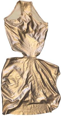 Rick Owens Gold Lycra Swimwear