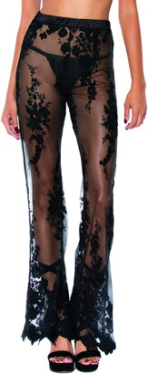 Hauty Embroidered Lace Flare Pants