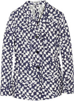 Jil Sander Nabakov printed cotton-taffeta blazer
