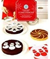 Martha Stewart Collection 3 Cake Stencils-holiday Themed