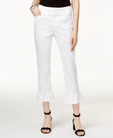 INC International Concepts Petite Ruffle-Hem Cropped Pants, Created for Macy's
