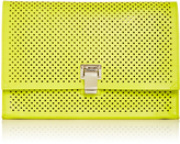 Proenza Schouler Yellow Perforated Leather Small Lunch Bag Clutch