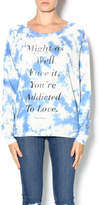Junk Food Clothing Lyric Pull Over
