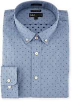 Neiman Marcus Extra X-Trim Fit Regular-Finish Dress Shirt, Gray