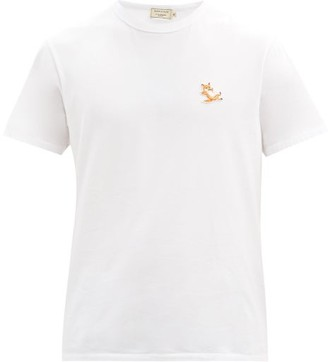 MAISON KITSUNÉ Chillax Fox-patch Cotton-jersey T-shirt - White
