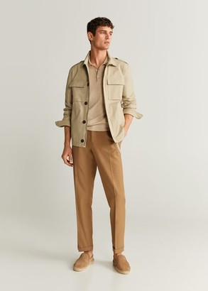 MANGO MAN - Pocketed cotton jacket beige - S - Men