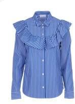 RED Valentino Striped Frill Shirt