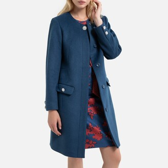 Anne Weyburn Mid-Length Buttoned Coat