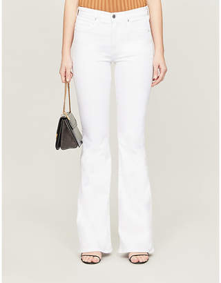 Veronica Beard Beverly flared mid-rise stretch-denim jeans