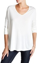 Haute Hippie V-Neck Long Sleeve Tee