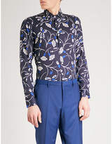 Etro Spaced Out Floral Regular-fit Cotton-poplin Shirt
