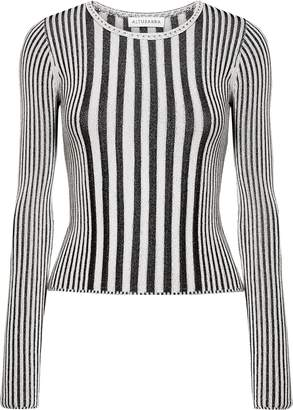Altuzarra Seine Striped Ribbed-knit Sweater