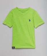 U.S. Polo Assn. Summer Lime V-Neck Tee - Boys