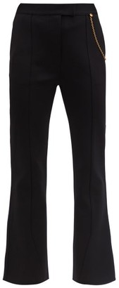 Givenchy Draped-chain Kick-flare Tailored Trousers - Black