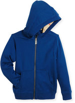 Burberry Pearcy Hooded Jersey Sweatshirt, Blue, Size 4-14