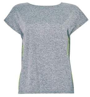 Dorothy Perkins Womens Grey Active Wear Cross Back T
