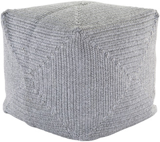 Jaipur Living Bridgehampton Solid Light Gray Indoor & Outdoor Pouf