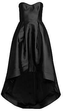 Parker Black Women's Roxanne Satin Strapless High-Low Gown