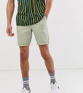 Asos Design DESIGN Tall skinny chino shorts in light green