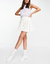 Thumbnail for your product : Monki Marianna pleated mini skirt in off white