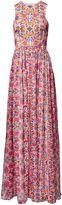 Matthew Williamson White Folkloric Floral Silk Chiffon Gown