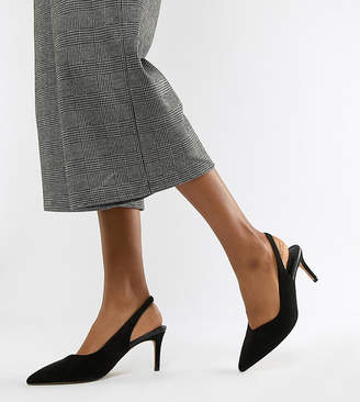 Sebastian Asos Design ASOS DESIGN Wide Fit slingback mid heels-Black