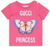 Gucci Princess Butterfly T-Shirt, Size 6-36 Months