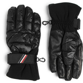 Moncler Grenoble - Shell, Leather And Jersey Down Ski Gloves