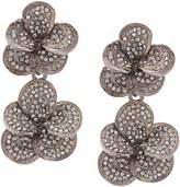 Oscar de la Renta Flower Pave earrings