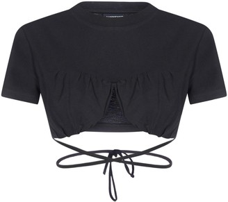 Jacquemus Cropped Short-Sleeve Top