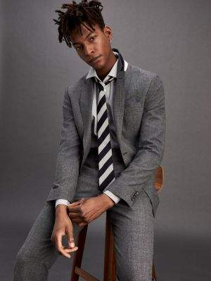 Tommy Hilfiger Stretch Wool Blend Slim Fit Suit