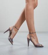 Reiss Garbo - Metallic Strappy High Heeled Sandals in Metallic