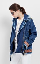 Nicole Miller Embroidered Mola Denim Jacket