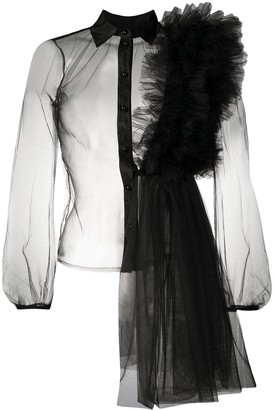 Alchemy Ruffled Panel Tulle Shirt