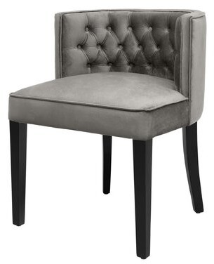 Eichholtz Dearborn Round Back Upholstered Dining Chair Upholstery Color: Roche Porpoise Gray