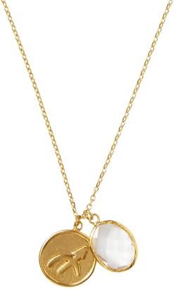Ottoman Hands Scorpio Zodiac Necklace With Opal Charm