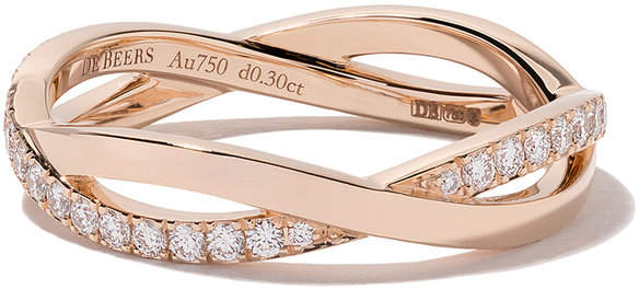 De Beers 18kt rose gold Infinity diamond band
